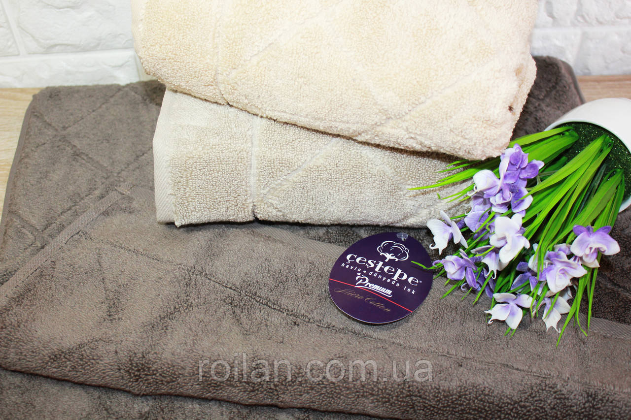 Банные турецкие полотенца Cestepe Premium EVA Капучино