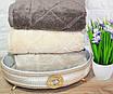Банные турецкие полотенца Cestepe Premium EVA Капучино, фото 2