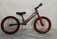 """Детский беговел (велобег) CROSSER BALANCE BIKE AIR JK-07  колеса 14"""" серый"""