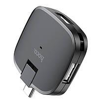 Переходник Hoco HB11 Type-C to 3USB ports converter конвертер, фото 2