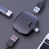 Переходник Hoco HB11 Type-C to 3USB ports converter конвертер, фото 3
