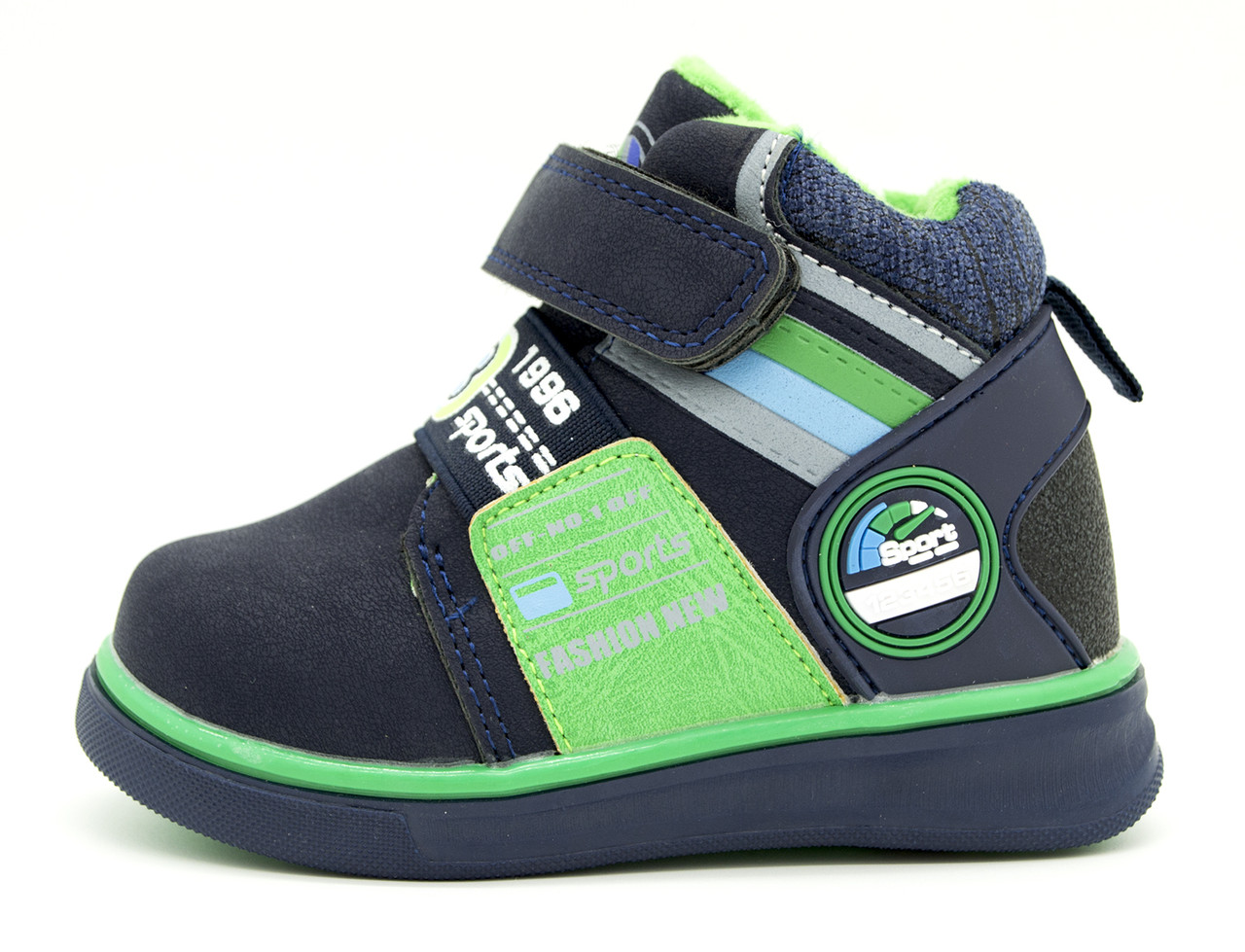 Демисезонные ботинки Для мальчиков Сине-зеленый Размеры: 22,25