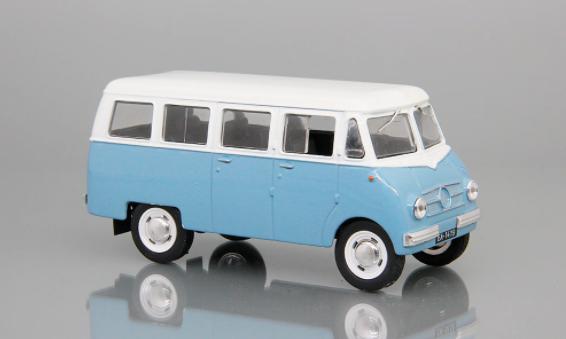 Автолегенды №159 NYSA N59 (Польша) белый с голубым   Коллекционная модель 1:43   DeAgostini