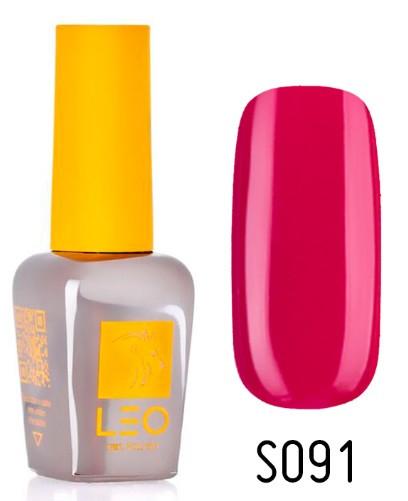 Гель-лак для ногтей LEO seasons №091 Плотный малиново-красный (эмаль) 9 мл