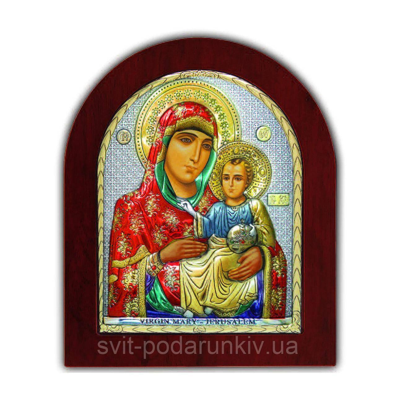 Икона Иерусалимская Богоматери EP3-006XAG/P/C Silver Axion