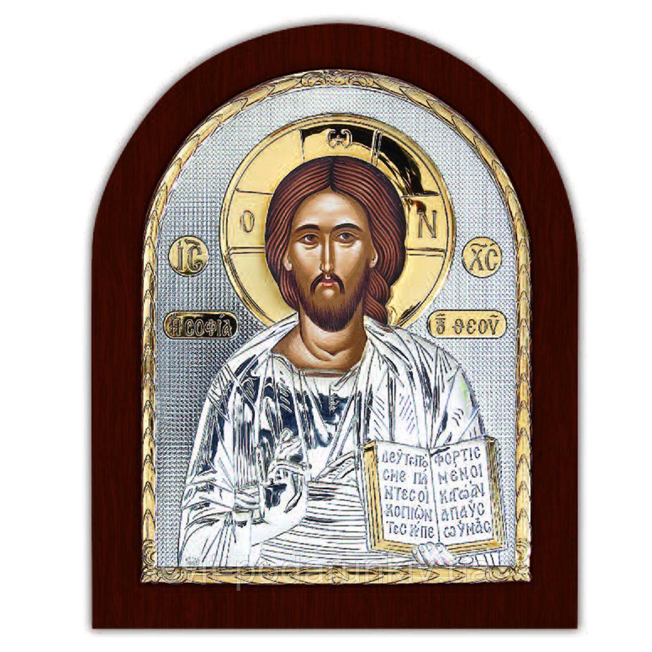 Икона Иисуса Христа Спасителя EP4-001XAG/P Silver Axion