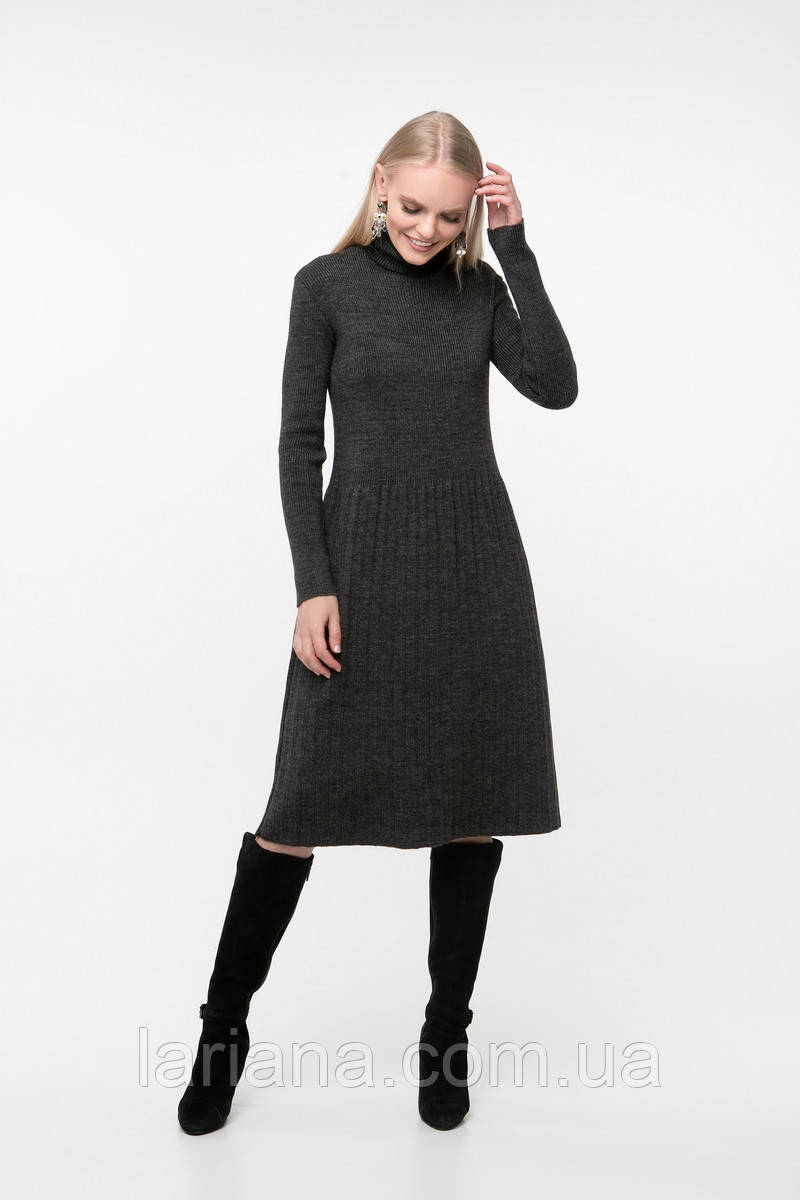 SEWEL Платье PW722 (One Size, темно-серый, 60% акрил/ 30% шерсть/ 10% эластан)