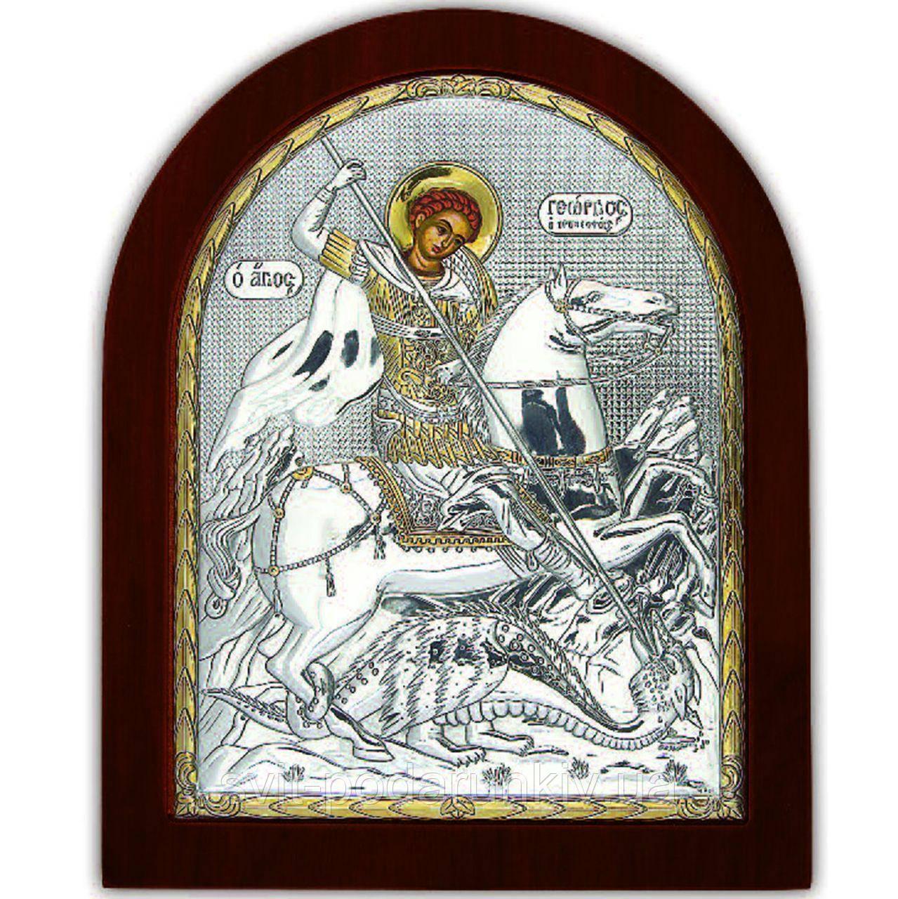 Икона Св. Георгия Победоносца EP5-010XAG/P Silver Axion