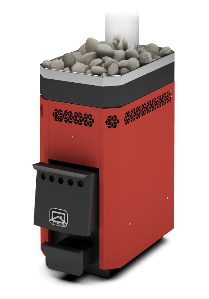 Дровяная печь-каменка Теплодар Русь 9 ЛУ объем парилки 5-9 м.куб, вес камней 25 кг, нагрев воды