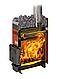 Дровяная печь-каменка Теплодар Русь 9 ЛУ объем парилки 5-9 м.куб, вес камней 25 кг, нагрев воды, фото 2