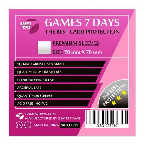 Протекторы для карт Games 7 Days 70х70мм Premium Quality