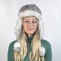 Женская шапка из искусственного меха кролика (код 29-253)