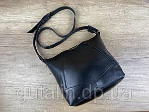 Женская сумка ручной работы из натуральной кожи Comfort цвет черный