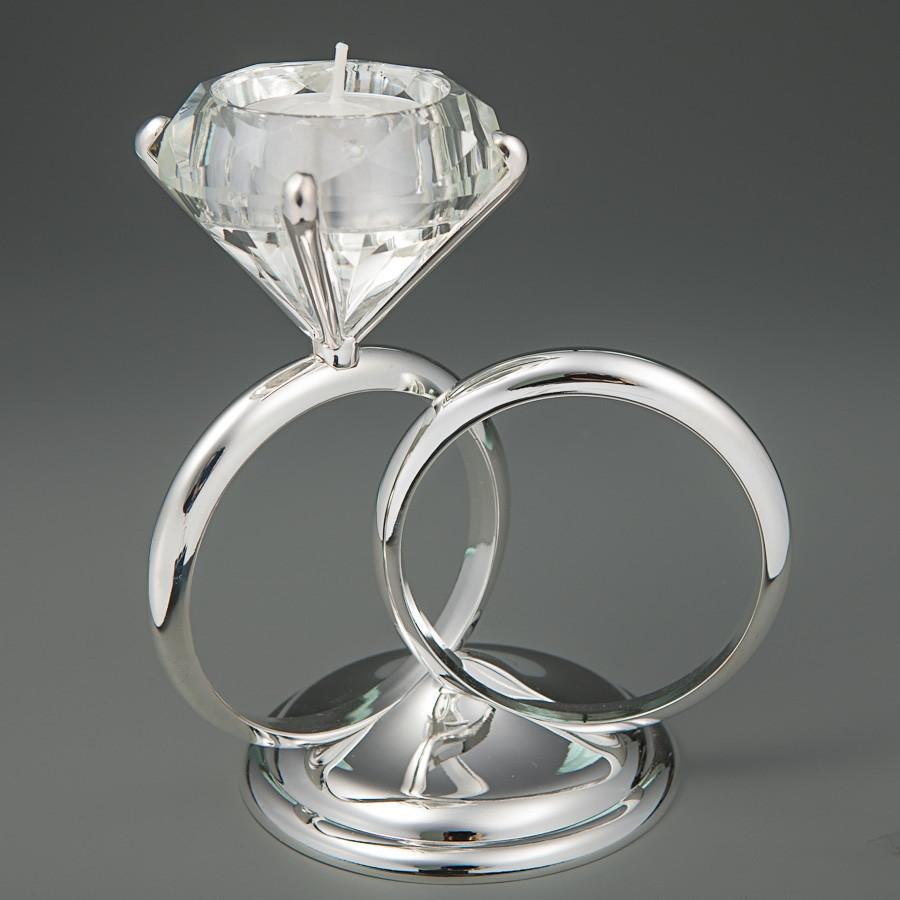 Подсвечник Unicorn Studio Свадебные Кольца 16 см 036G