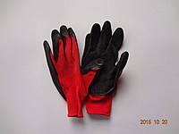 Перчатки рабочие защитные из полиэстера с черным латексным покрытием Оgrifox (упаковка 12 пар), фото 1
