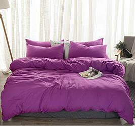 Комплект постільної білизни Komfort з Льону СОКОВИТА ЗЛИВУ №682 євро