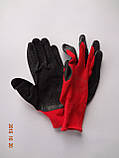 Перчатки рабочие защитные из полиэстера с черным латексным покрытием Оgrifox (упаковка 12 пар), фото 3