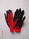 Перчатки рабочие защитные из полиэстера с черным латексным покрытием Оgrifox (упаковка 12 пар), фото 4