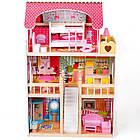 Великий ігровий ляльковий будиночок AVKO Вілла Валетта з LED підсвічуванням, фото 2