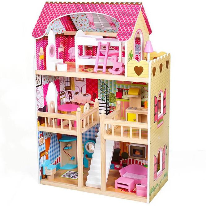 Большой игровой кукольный домик AVKO Вилла Валетта с LED подсветкой