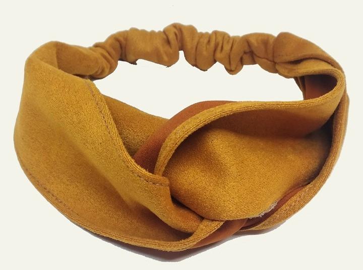 Ободок повязка замшевая с переплетом