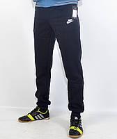 Мужские спортивные штаны на байке под манжет Nike - зима (41-152)