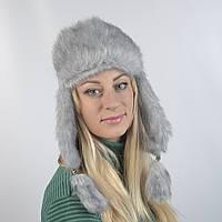 Женская шапка из искусственного меха норки (код 29-255)
