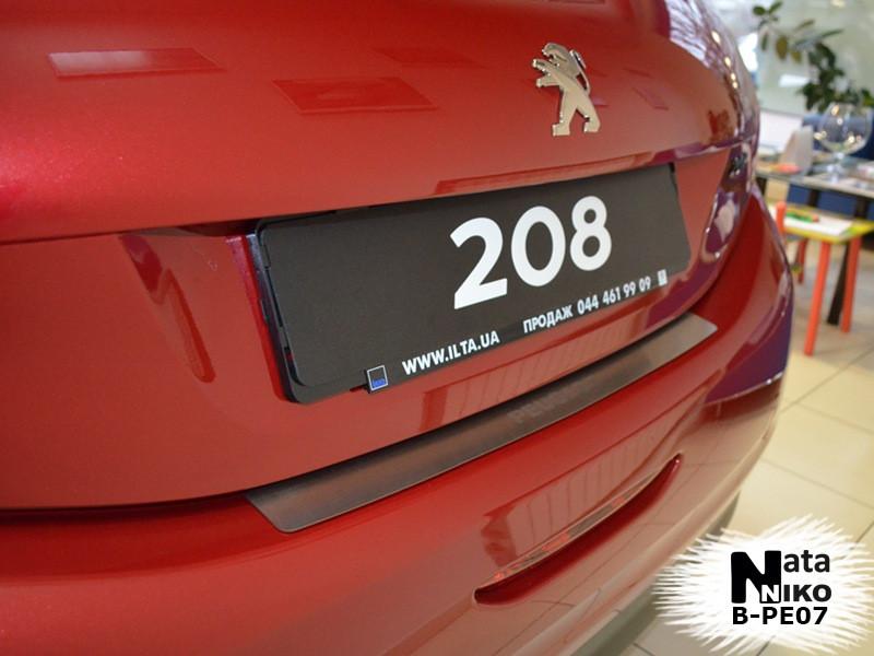 Накладка на бампер Peugeot 208 2013 - без загину