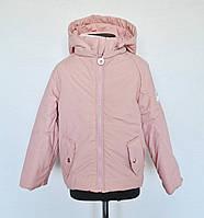 Детская демисезонная куртка для девочек 6-8 лет, пудра