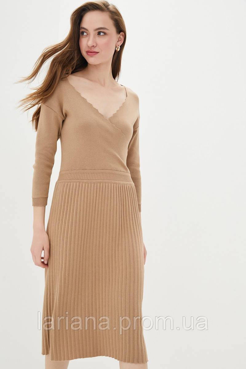 SEWEL Платье PS783 (42-44, кемел, 50% хлопок/ 50% акрил)