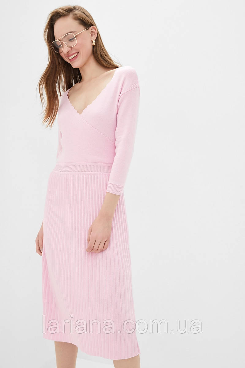 SEWEL Платье PS783 (46-48, розовый, 50% хлопок/ 50% акрил)