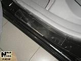 Накладки на пороги KIA Rio II 2005-2011 premium, фото 2