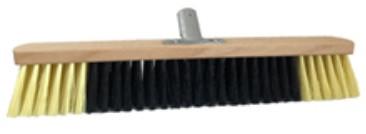 100-358 Щітка для підлоги пром 60см (РЕТчорний+беж., дер.основа з метал кріплення)