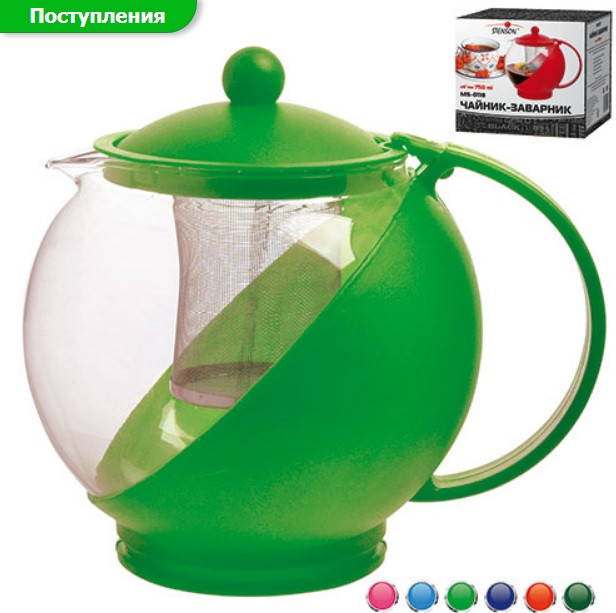 0118 Чайник заварний скло+пет 750мл