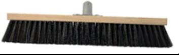100-355 Щітка для підлоги пром 40см (РЕТчорний+натур.волокно, дер.основа з метал кріплення)