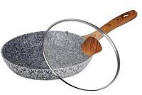 MK-FP4526М Сковородка з сірим граніт. покриттям 26см