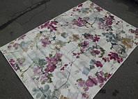Малиново фиолетовый ковер с цветочным рисунком, фото 1