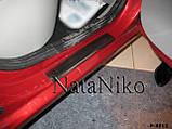 Накладки на пороги Renault Logan II 2010 - premium, фото 2