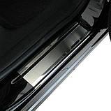 Накладки на пороги Volkswagen Golf Sportsvan 2014- premium, фото 3