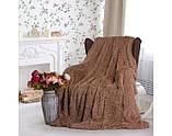 """Пушистый плед травка с длинным ворсом """"Серый"""" (меховой), размер 160х210 см, фото 5"""
