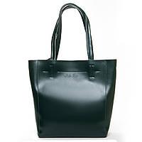 Женская кожаная сумка  J003 dark-green.Купить сумки оптом и в розницу по выгодной цене в Украине, фото 1