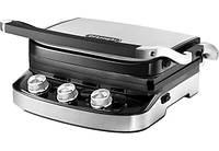 Гриль DeLonghi CGH 912 Steel BK (1500Вт, механическое управление, ребристая и плоская поверхность)