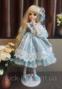Шарнірна лялька Жоржина bjd автора, ріст 60 см, 1/3, блондинка + одяг та взуття