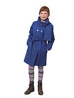 """Пальто для девочки с шарфом  кашемир  м-969-1 рост 116 122 и 134 тм """"Попелюшка"""", фото 1"""