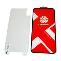 XO Захисне і загартоване скло XO FD7 для iPhone X / XS / 11 Pro повноекранне чорне 0.26 мм 3D, фото 1