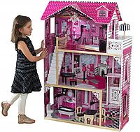 Большой игровой кукольный домик AVKO Вилла Барселона с лифтом + кукла