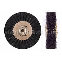 Щетка дисковая волосяная UTG 80 мм 4-х рядная, дерев диск (жесткая) 750