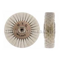 Щетка дисковая волосяная UTG 80 мм 4-х рядная, дерев диск (мягкая) 734
