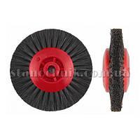 Щетка дисковая волосяная сжатая UTG 80 мм 4-х рядная, пластик диск (жесткая) 552
