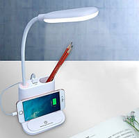 Настольная LED лампа  сенсорная multifunctional DESK LAMP с держателем для телефона